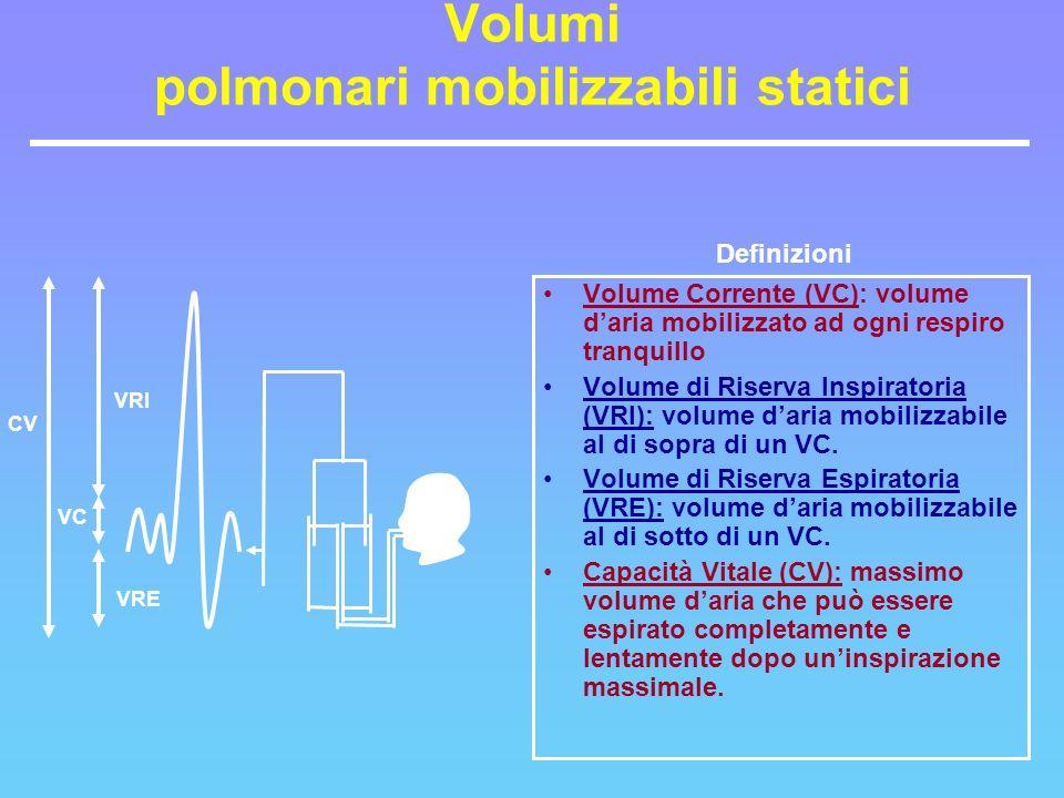Volumi polmonari mobilizzabili statici
