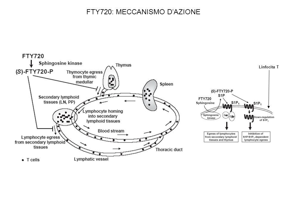 FTY720: MECCANISMO D'AZIONE