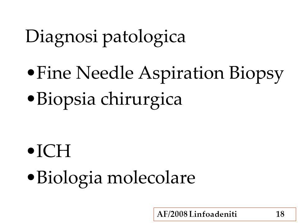 Diagnosi patologica Fine Needle Aspiration Biopsy Biopsia chirurgica ICH Biologia molecolare