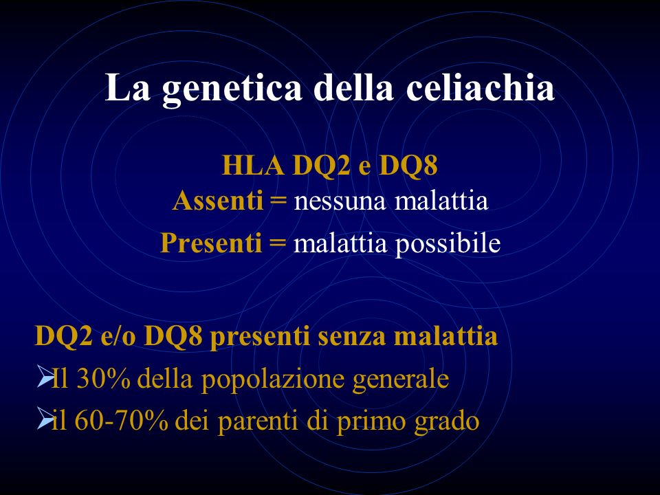 La genetica della celiachia