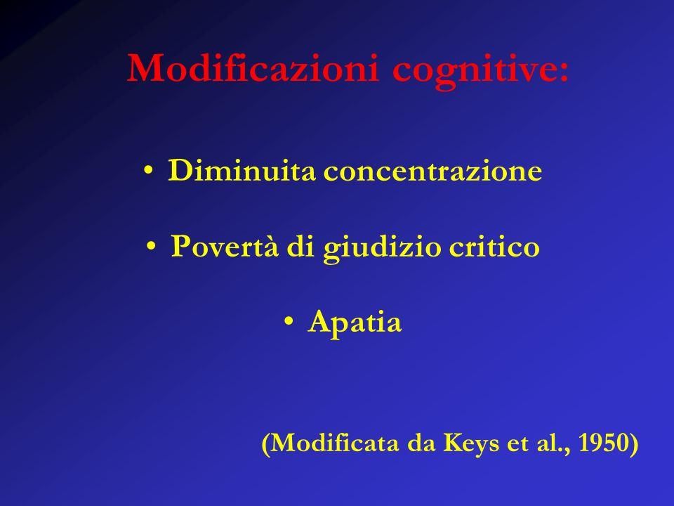 Modificazioni cognitive: