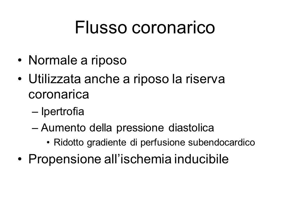 Flusso coronarico Normale a riposo
