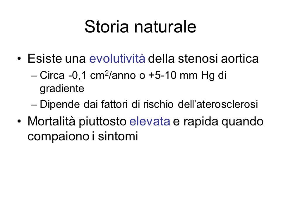 Storia naturale Esiste una evolutività della stenosi aortica