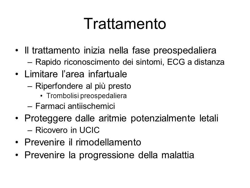 Trattamento Il trattamento inizia nella fase preospedaliera