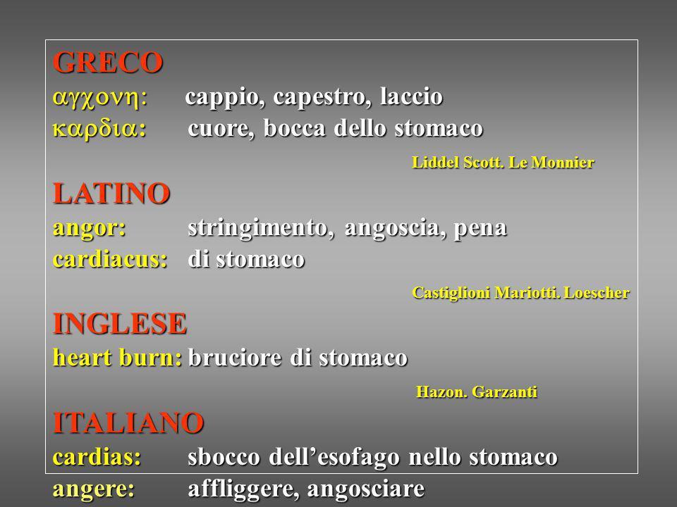 GRECO LATINO INGLESE ITALIANO agcon: cappio, capestro, laccio