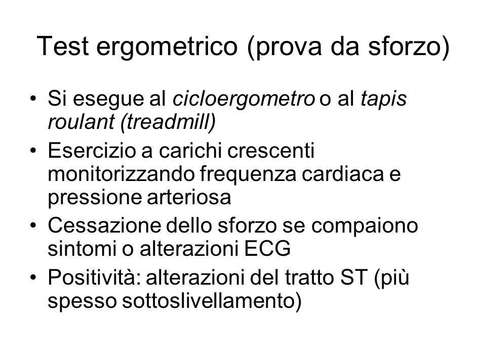 Test ergometrico (prova da sforzo)