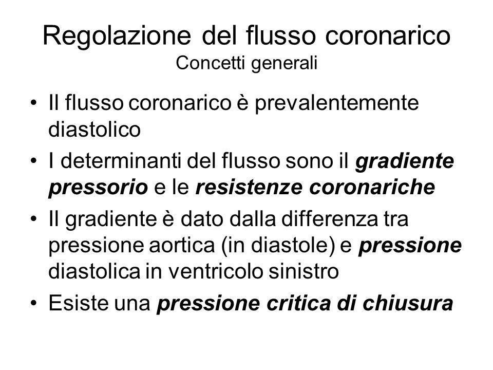 Regolazione del flusso coronarico Concetti generali