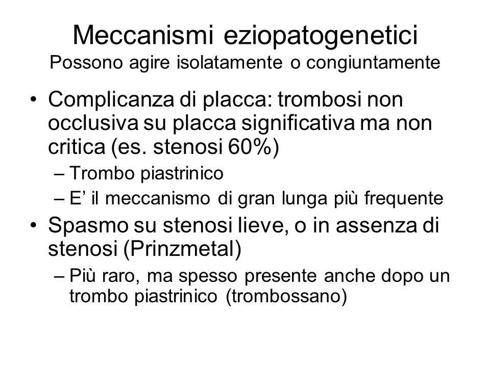 Meccanismi eziopatogenetici Possono agire isolatamente o congiuntamente