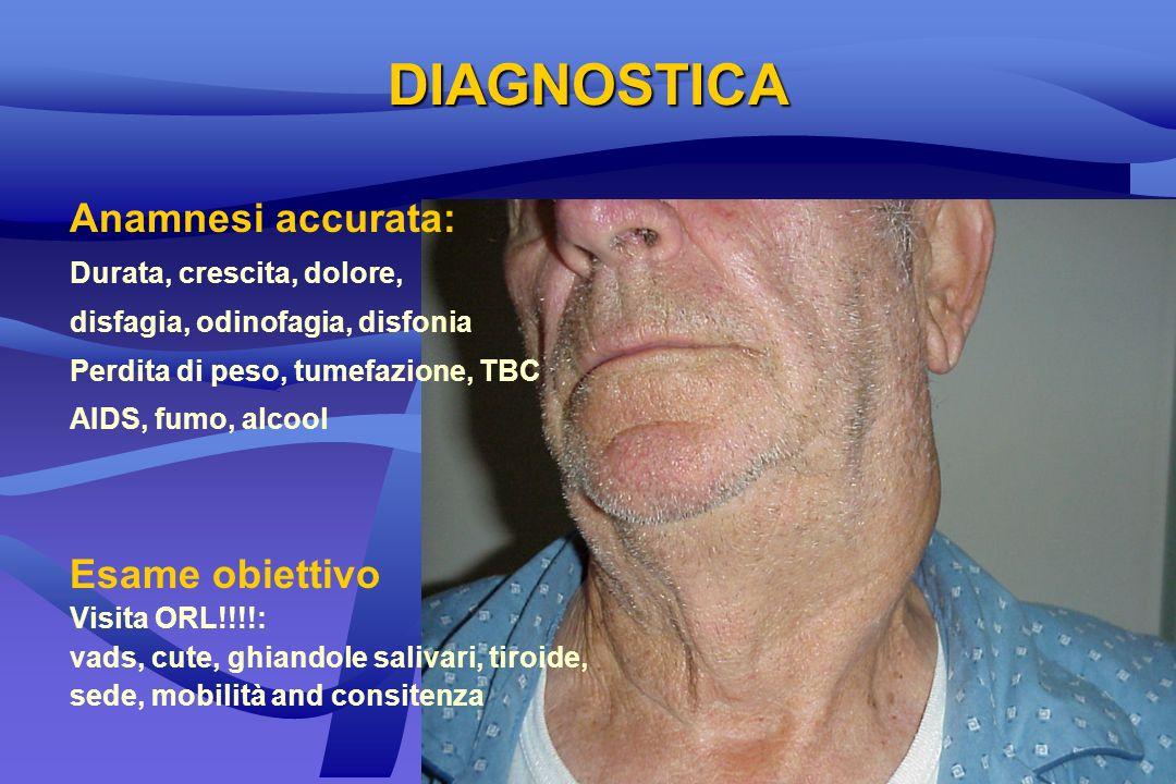 DIAGNOSTICA Anamnesi accurata: Esame obiettivo