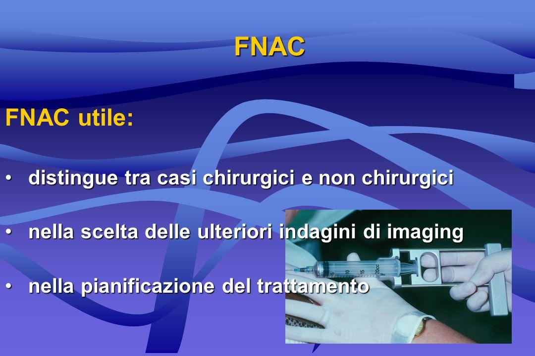 FNAC FNAC utile: distingue tra casi chirurgici e non chirurgici