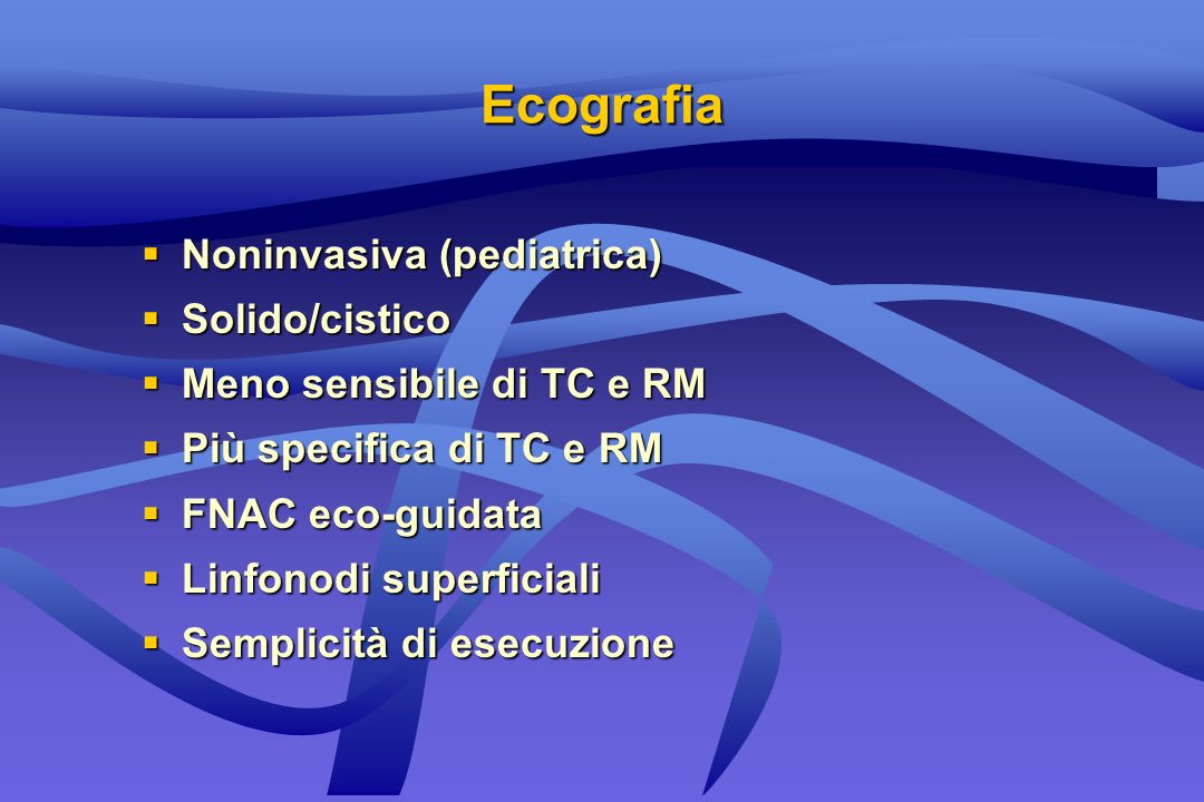 Ecografia Noninvasiva (pediatrica) Solido/cistico