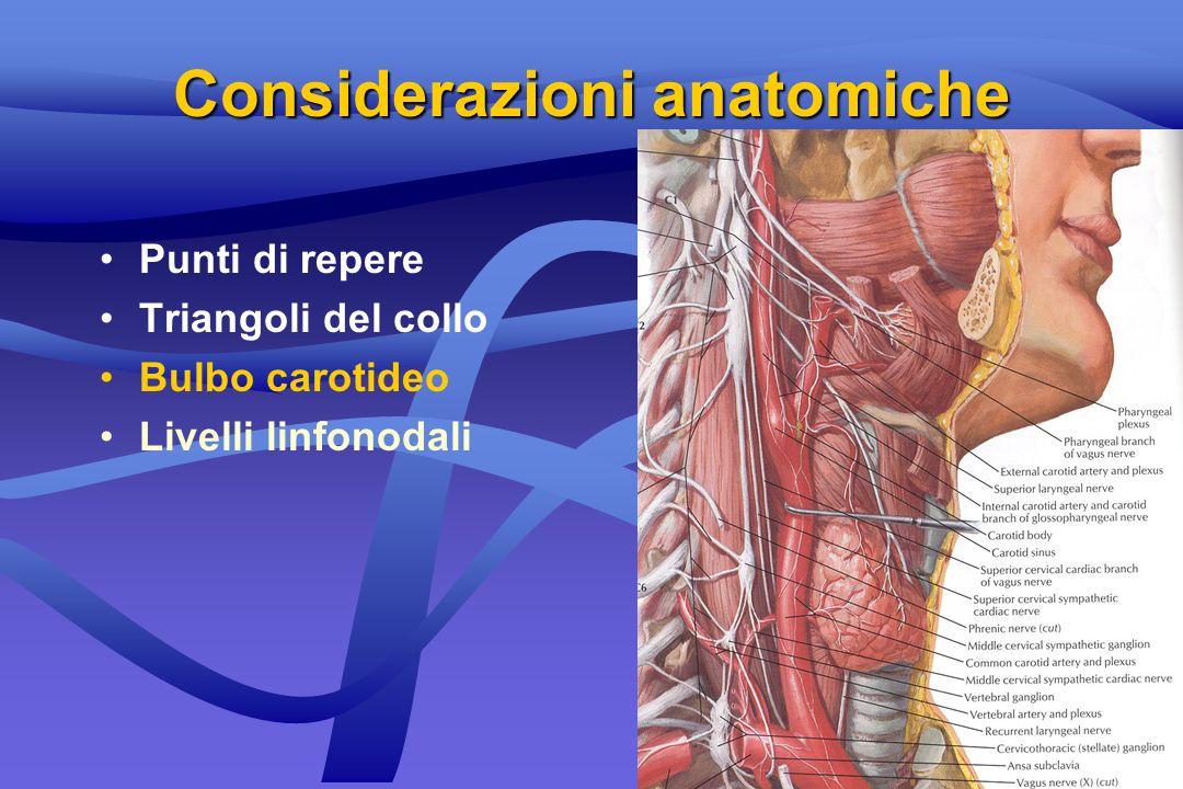 Considerazioni anatomiche
