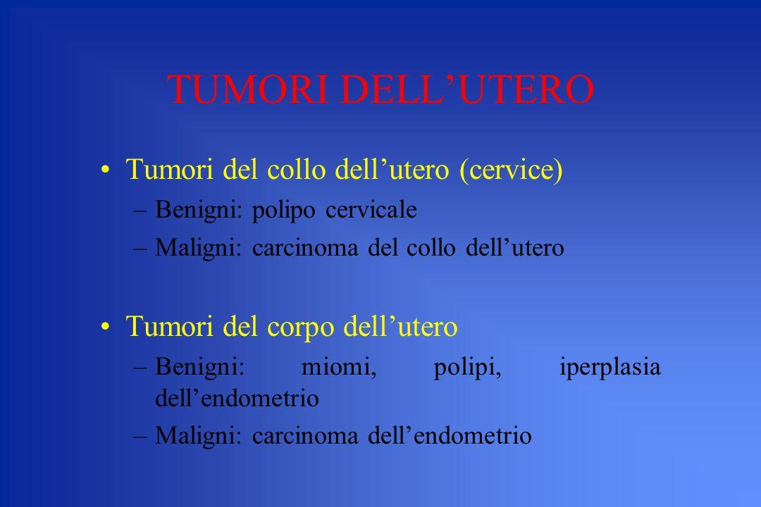TUMORI DELL'UTERO Tumori del collo dell'utero (cervice)