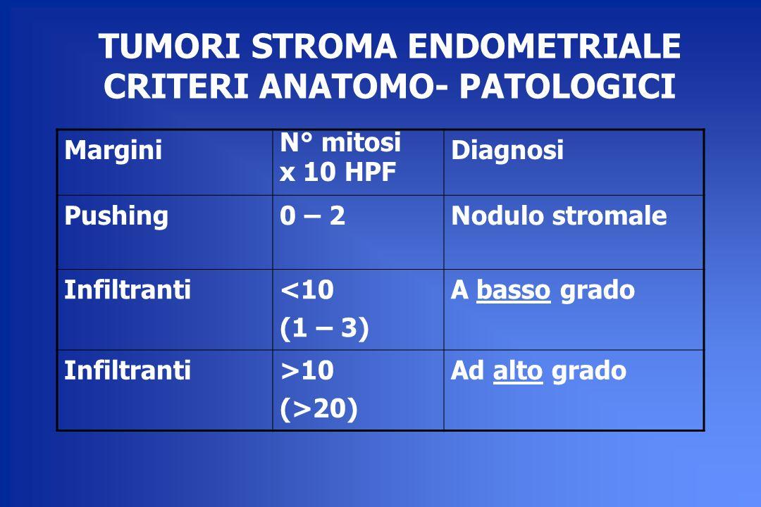 TUMORI STROMA ENDOMETRIALE CRITERI ANATOMO- PATOLOGICI