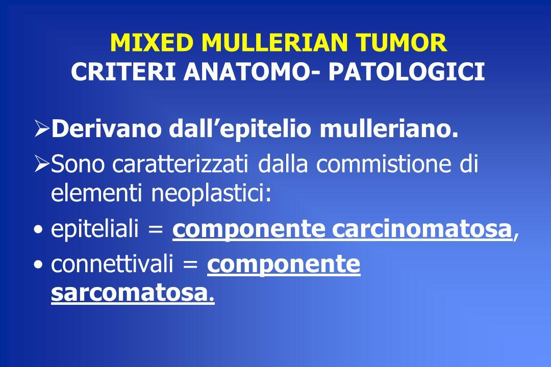 MIXED MULLERIAN TUMOR CRITERI ANATOMO- PATOLOGICI