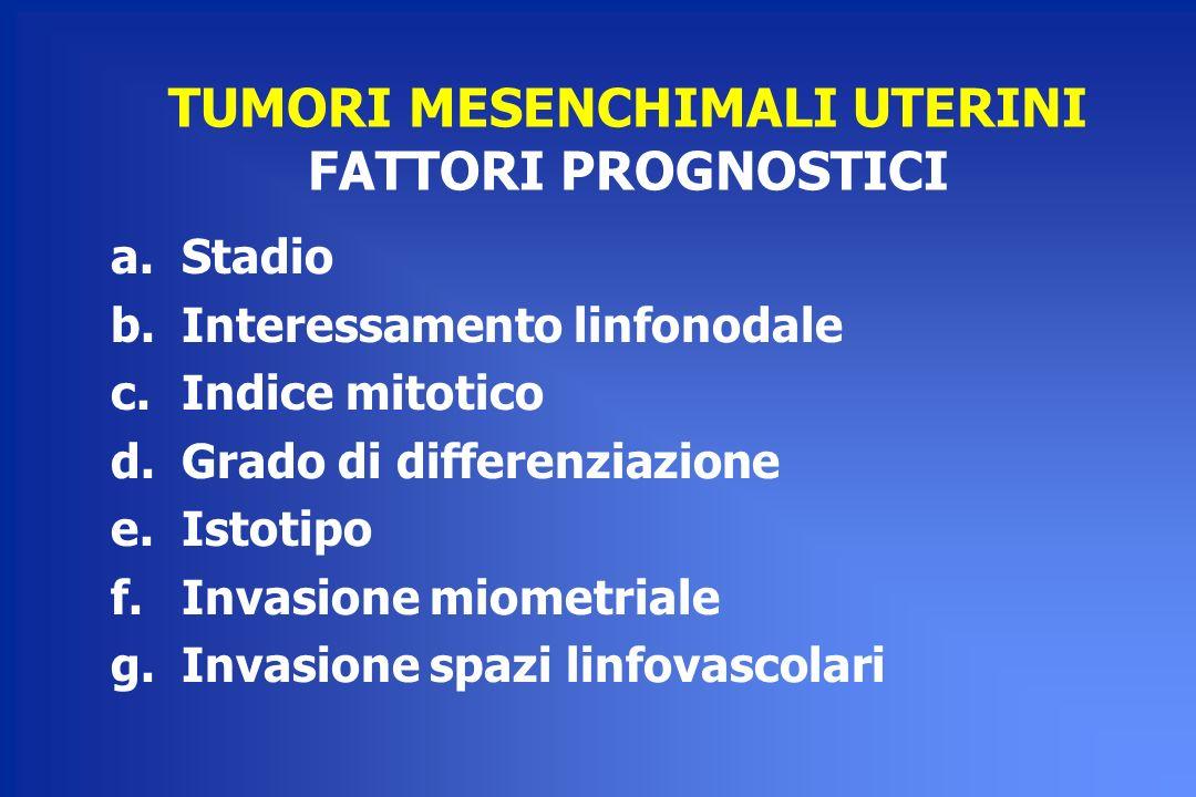 TUMORI MESENCHIMALI UTERINI FATTORI PROGNOSTICI