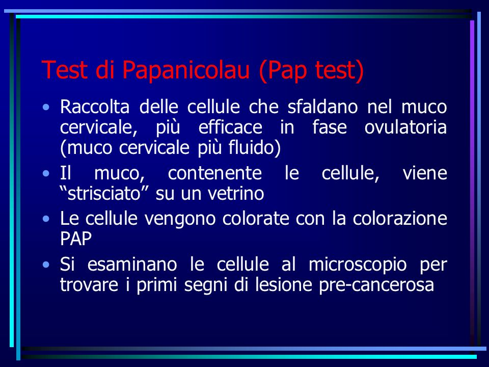 Test di Papanicolau (Pap test)