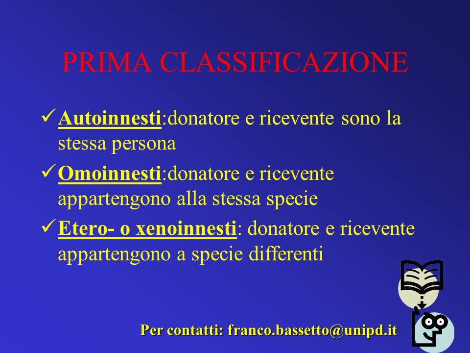 PRIMA CLASSIFICAZIONE