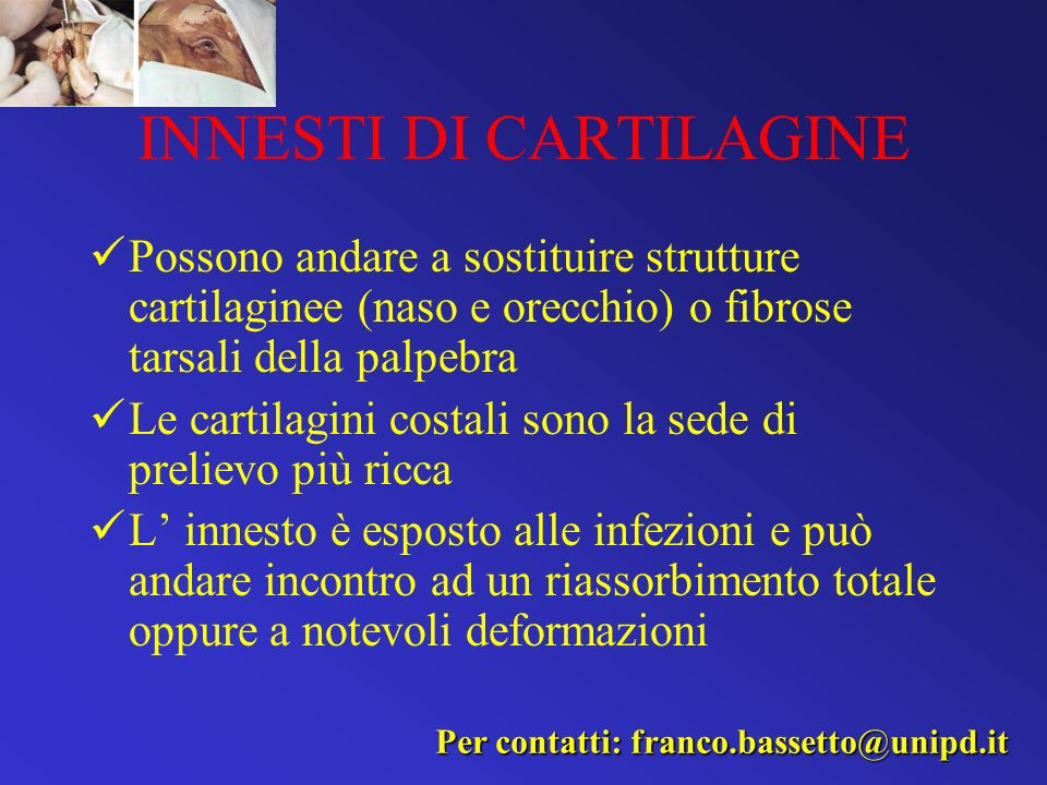 INNESTI DI CARTILAGINE