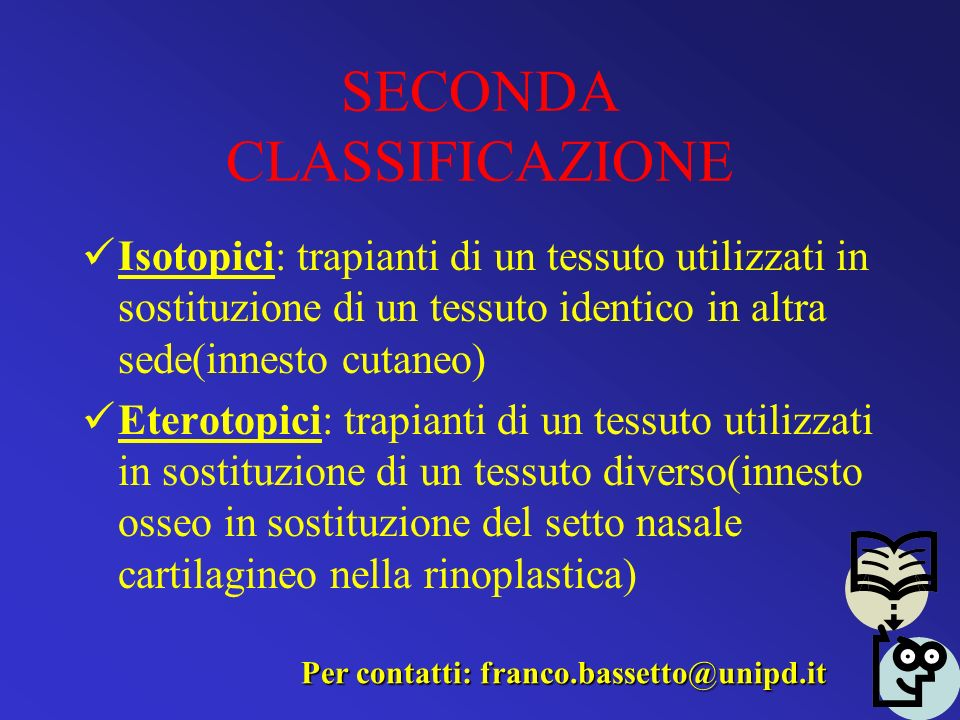 SECONDA CLASSIFICAZIONE