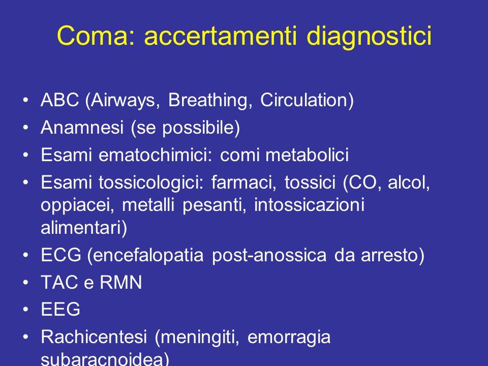 Coma: accertamenti diagnostici