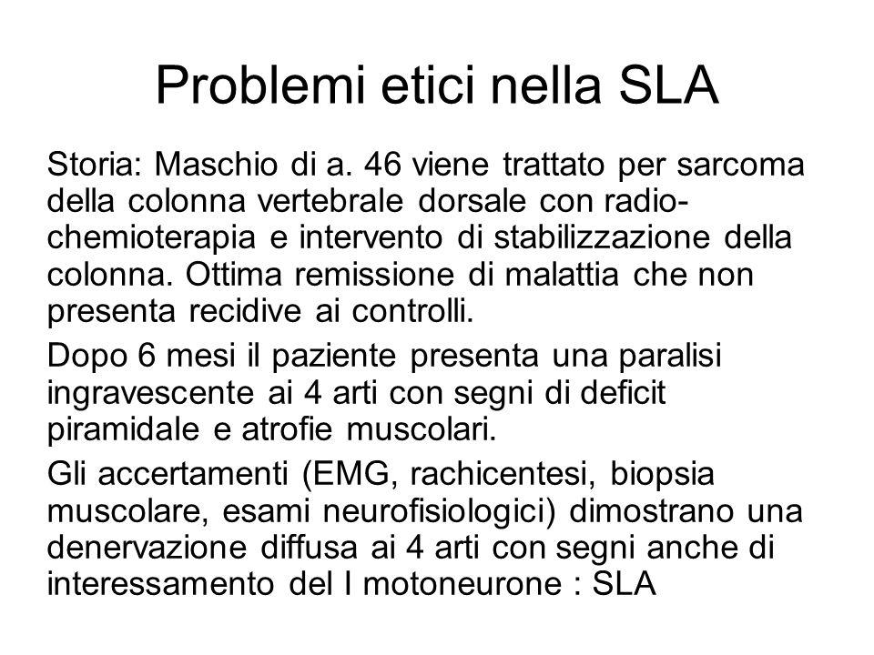 Problemi etici nella SLA