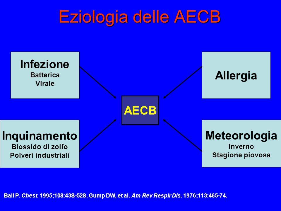 Eziologia delle AECB Infezione Allergia AECB Inquinamento Meteorologia