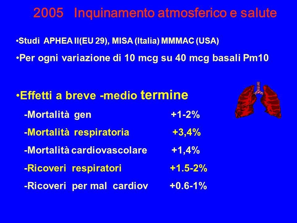 2005 Inquinamento atmosferico e salute