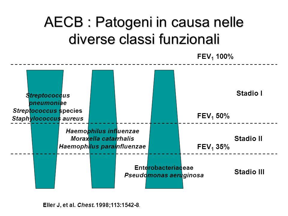 AECB : Patogeni in causa nelle diverse classi funzionali