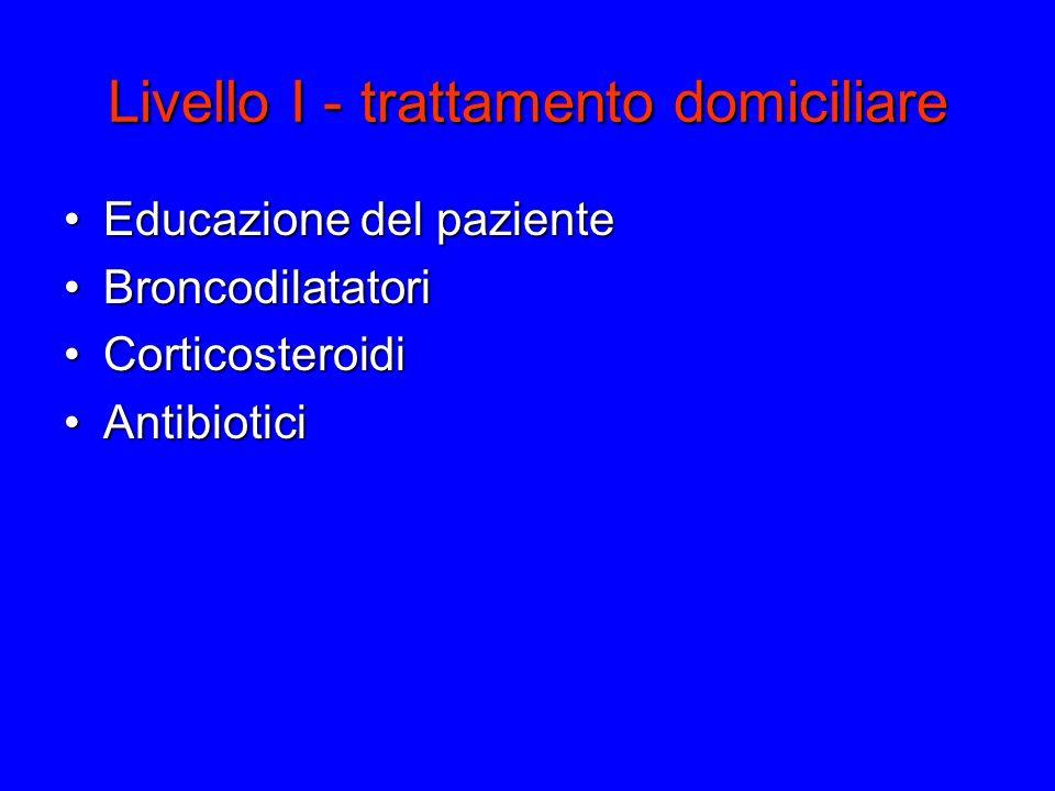 Livello I - trattamento domiciliare