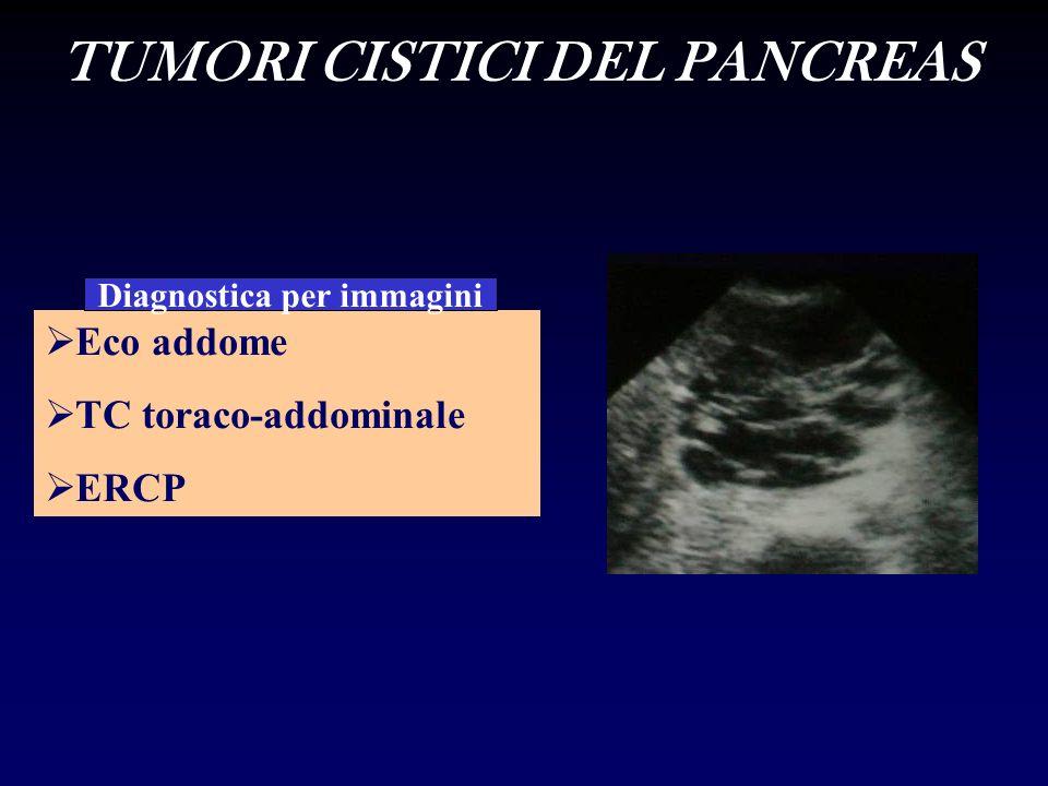 TUMORI CISTICI DEL PANCREAS Diagnostica per immagini