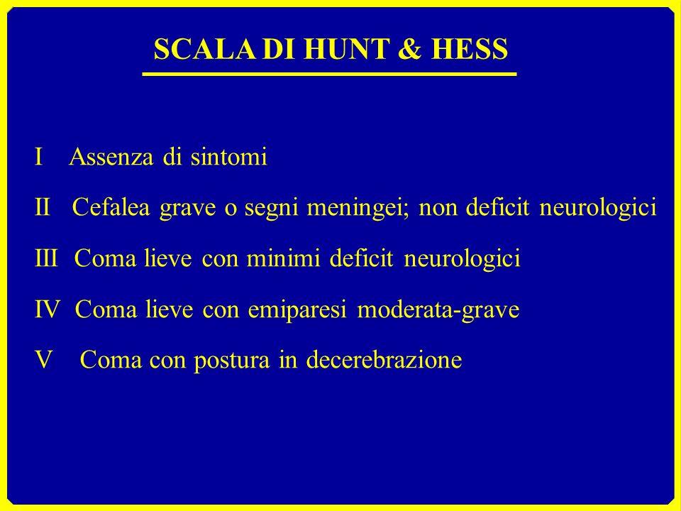 SCALA DI HUNT & HESS I Assenza di sintomi
