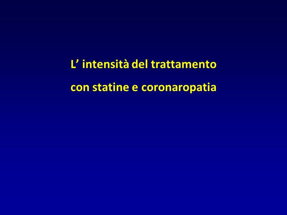 L' intensità del trattamento con statine e coronaropatia