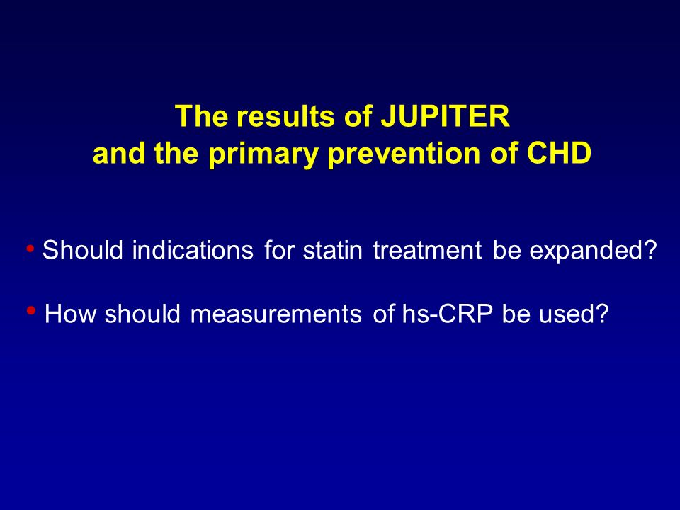 and the primary prevention of CHD