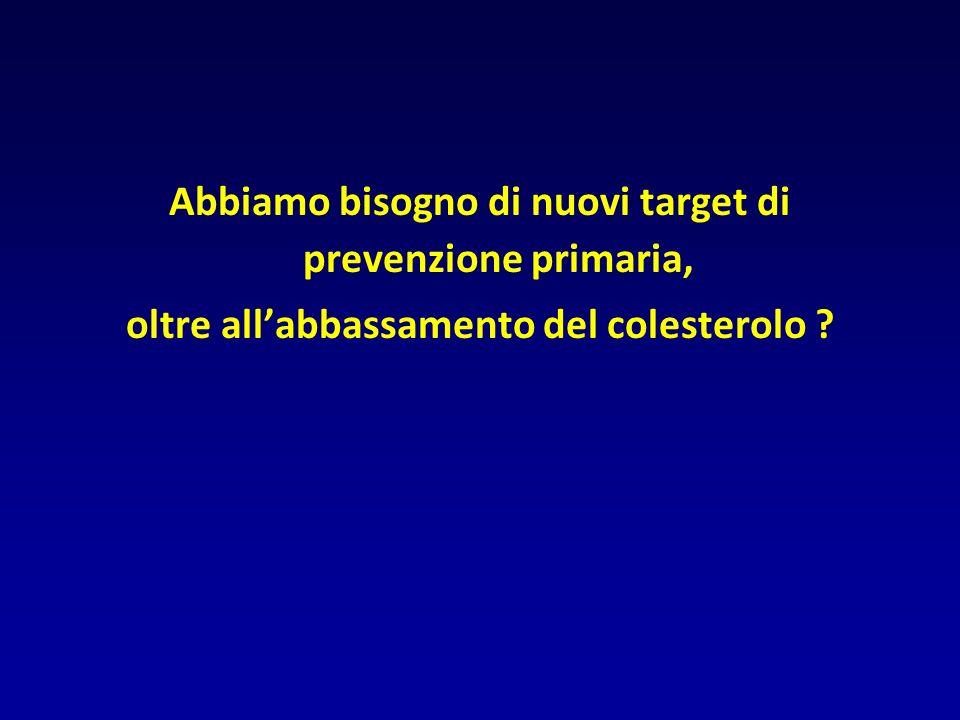 Abbiamo bisogno di nuovi target di prevenzione primaria,