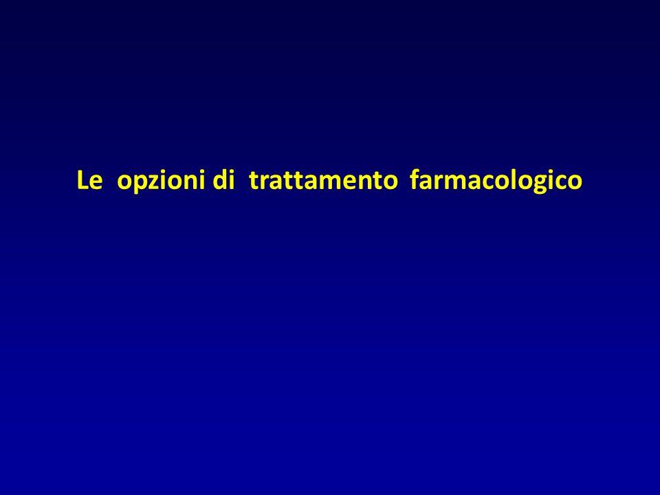 Le opzioni di trattamento farmacologico