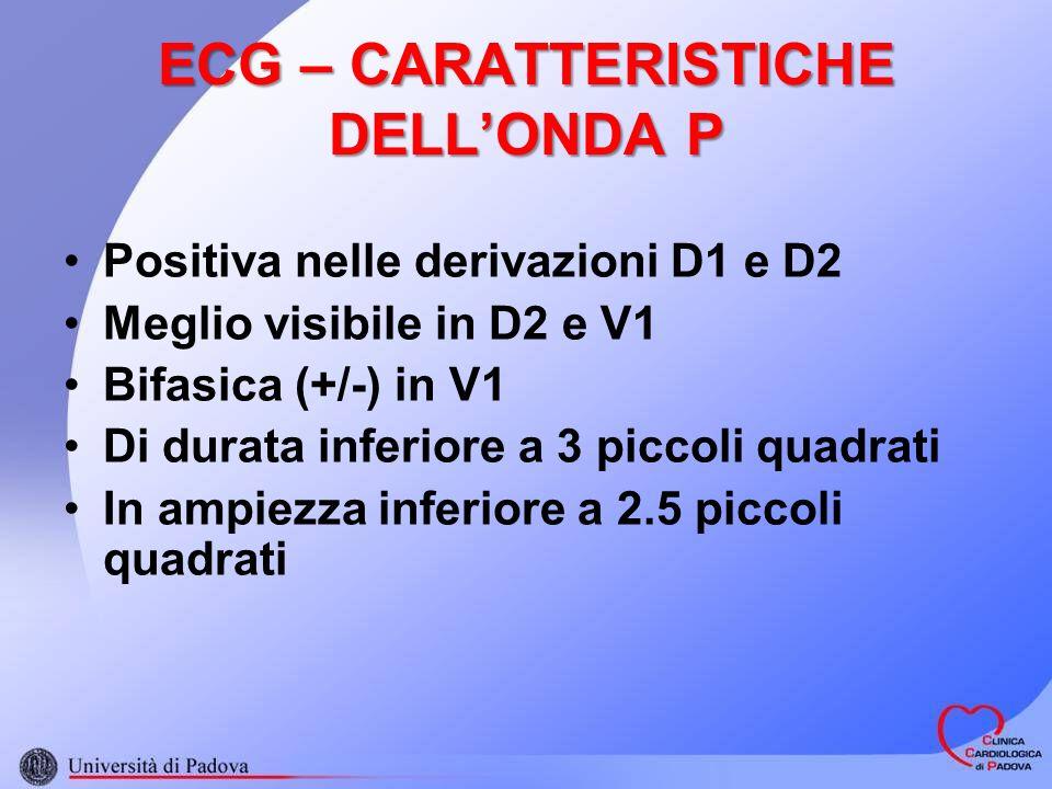 ECG – CARATTERISTICHE DELL'ONDA P