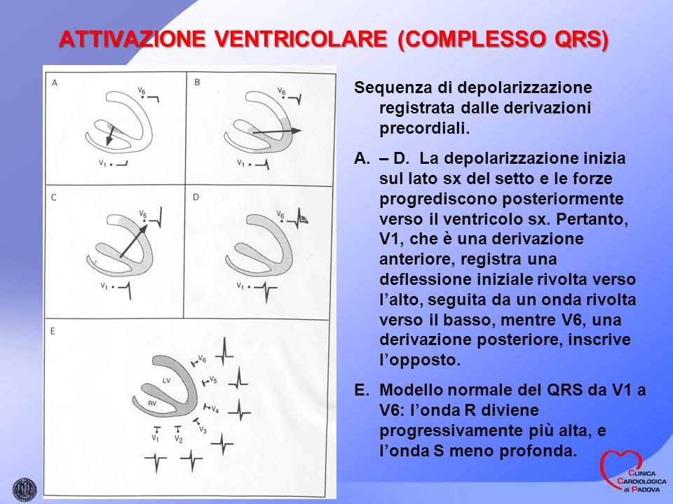 ATTIVAZIONE VENTRICOLARE (COMPLESSO QRS)