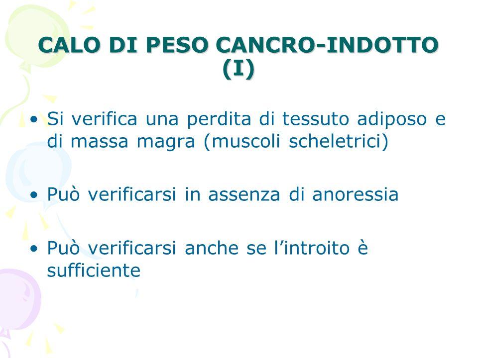 CALO DI PESO CANCRO-INDOTTO (I)