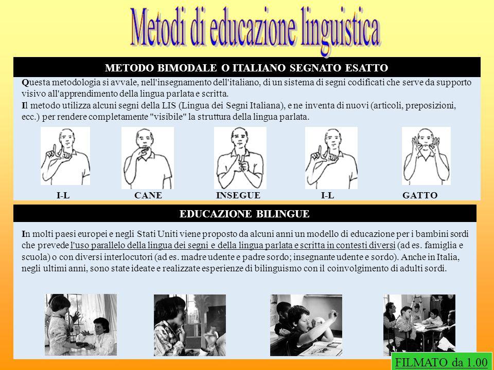 METODO BIMODALE O ITALIANO SEGNATO ESATTO