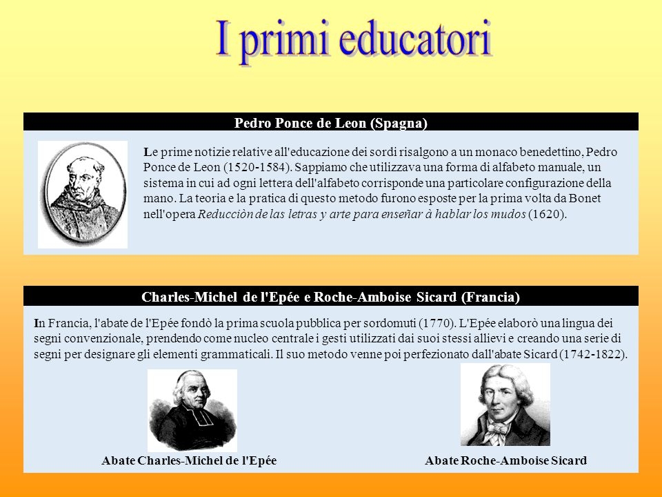 I primi educatori Pedro Ponce de Leon (Spagna)