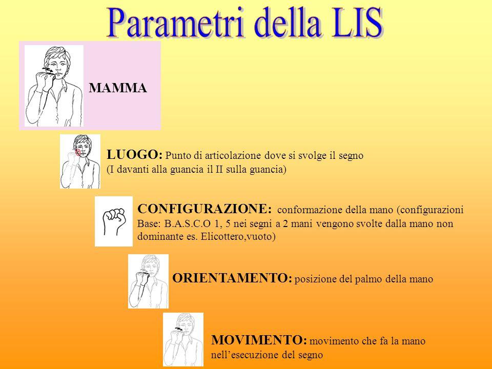 Parametri della LIS MAMMA