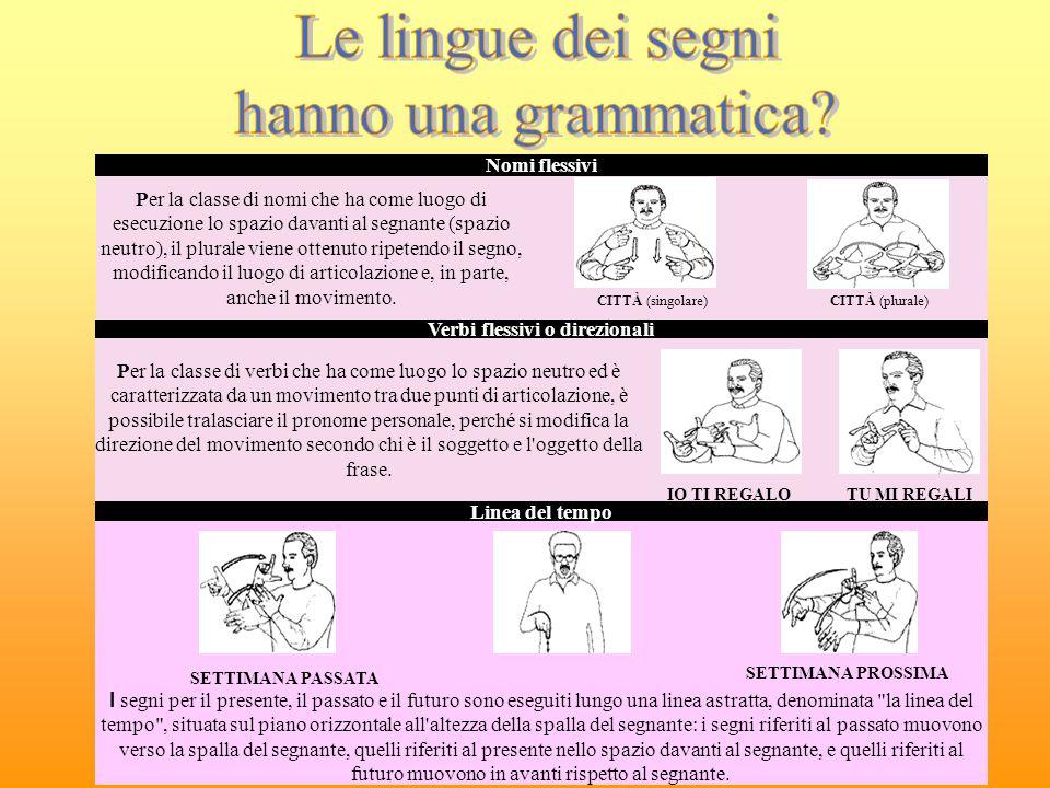 Verbi flessivi o direzionali
