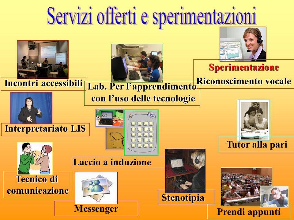 Servizi offerti e sperimentazioni