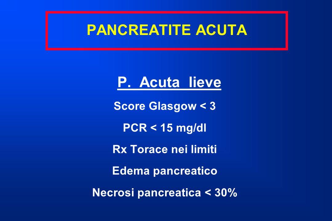 Necrosi pancreatica < 30%