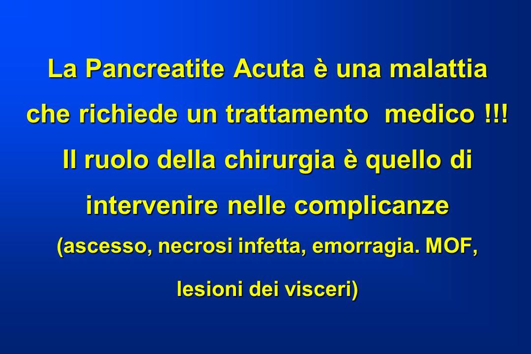 La Pancreatite Acuta è una malattia che richiede un trattamento medico