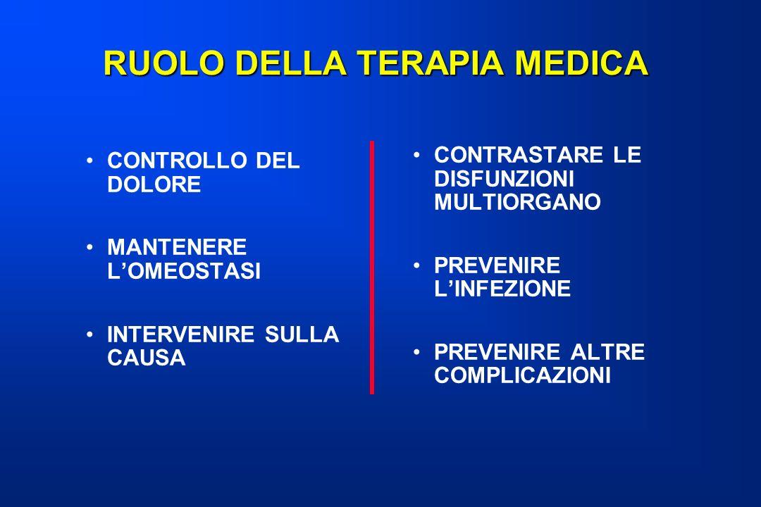 RUOLO DELLA TERAPIA MEDICA
