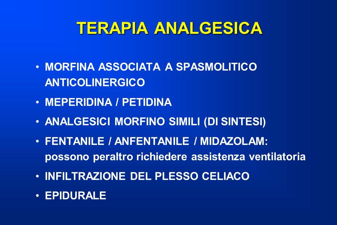 TERAPIA ANALGESICA MORFINA ASSOCIATA A SPASMOLITICO ANTICOLINERGICO
