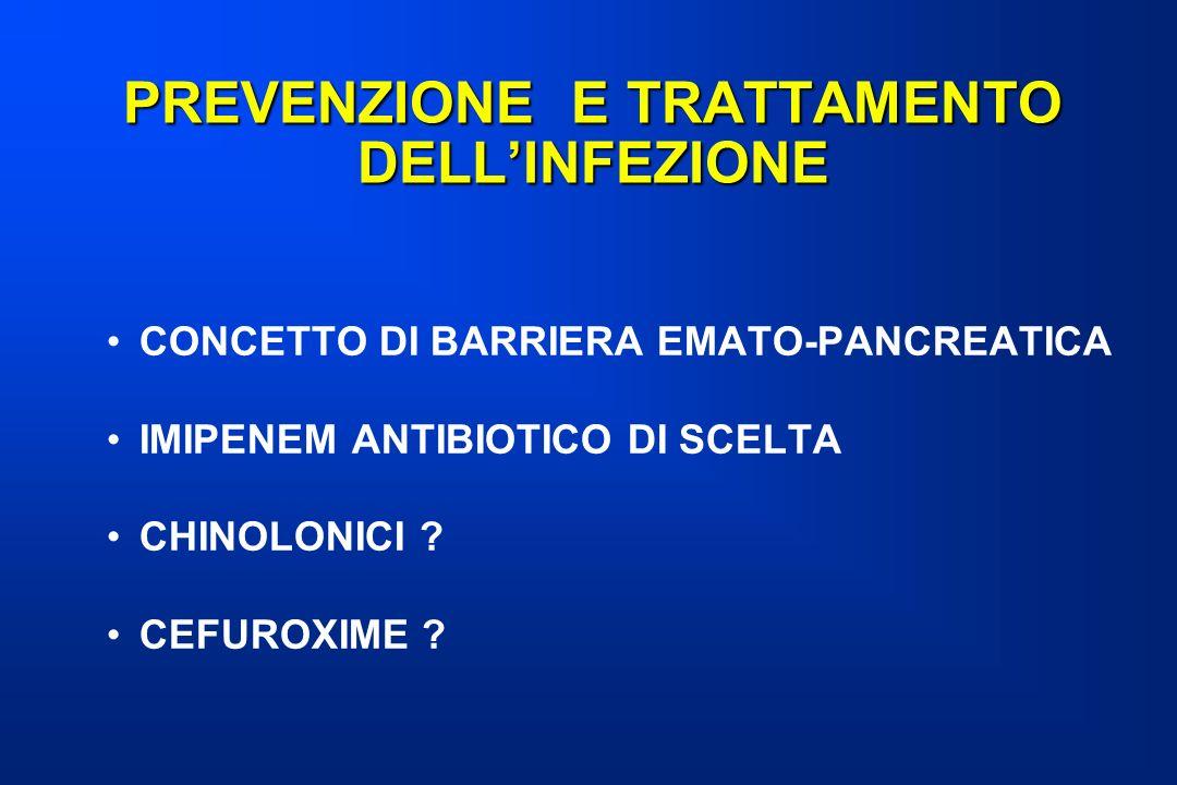 PREVENZIONE E TRATTAMENTO DELL'INFEZIONE