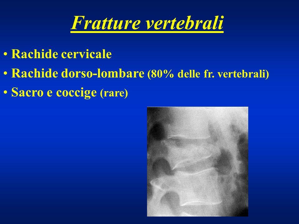 Fratture vertebrali Rachide cervicale